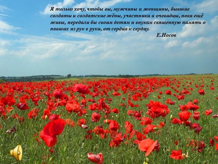 Я только хочу, чтобы вы, мужчины и женщины, бывшие солдаты и солдатские жёны,...