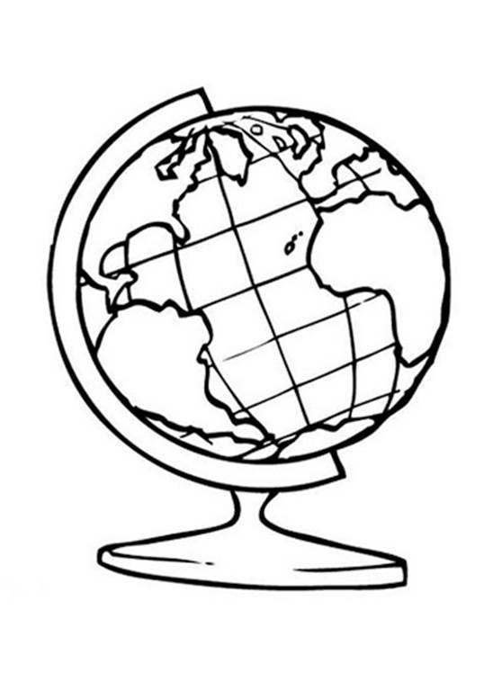 Раскраска глобус