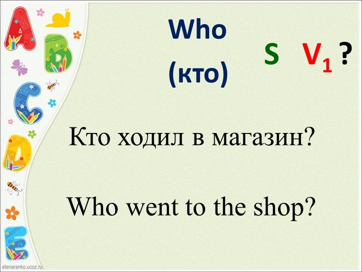 Кто ходил в магазин?