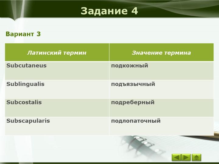 Задание 4Вариант 3