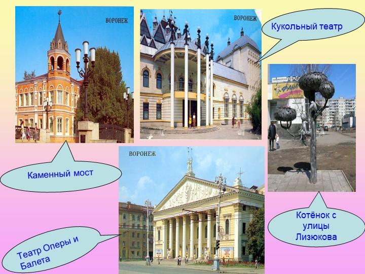 Каменный мостКукольный театрТеатр Оперы и БалетаКотёнок с улицы Лизюкова