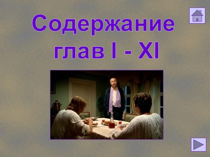 Содержание глав I - XI