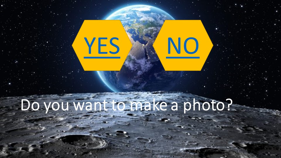 Do you want to make a photo?YESNO