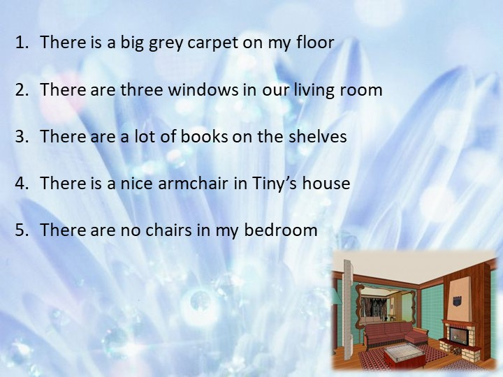 There is a big grey carpet on my floorThere are three windows in our living...
