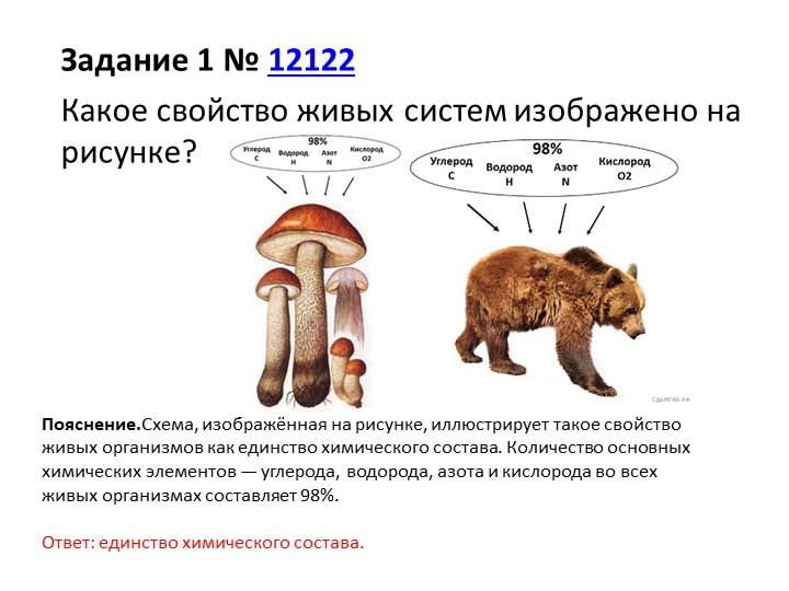 Задание 1№12122Какое свойство живых систем изображено на рисунке?Пояснени...