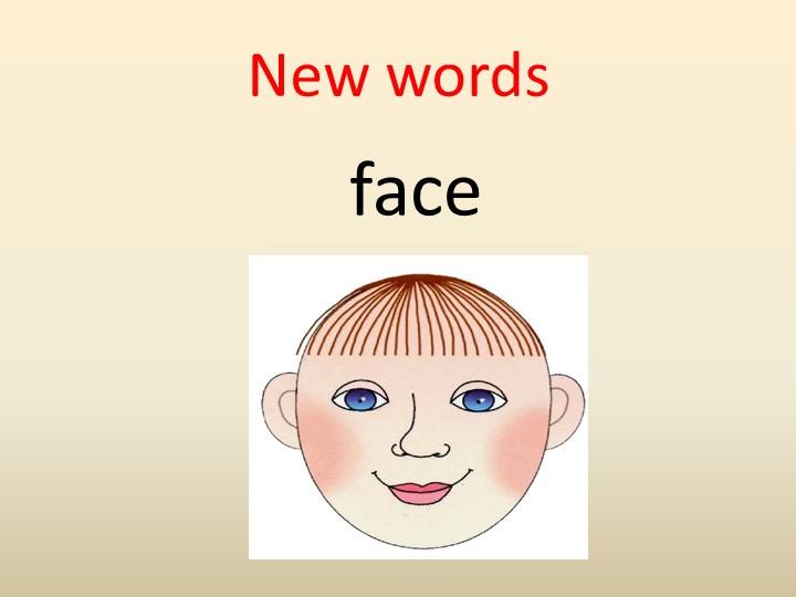 New wordsface