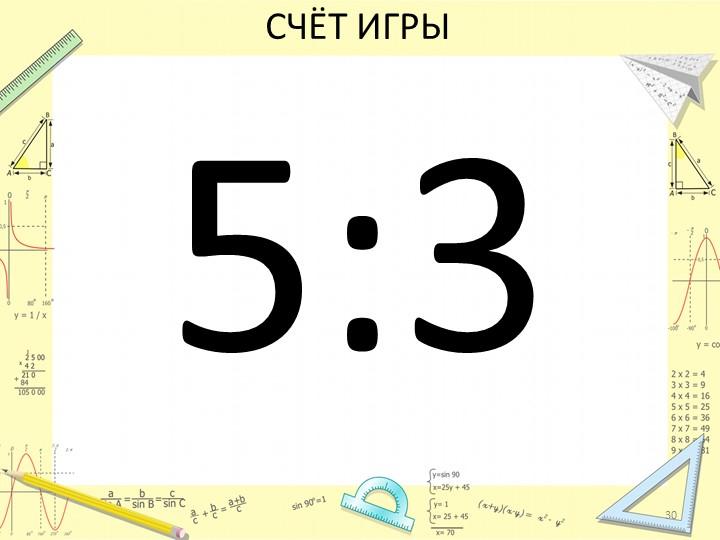 СЧЁТ ИГРЫ5:330