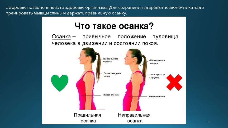 12Здоровье позвоночника это здоровье организма. Для сохранения здоровья позво...