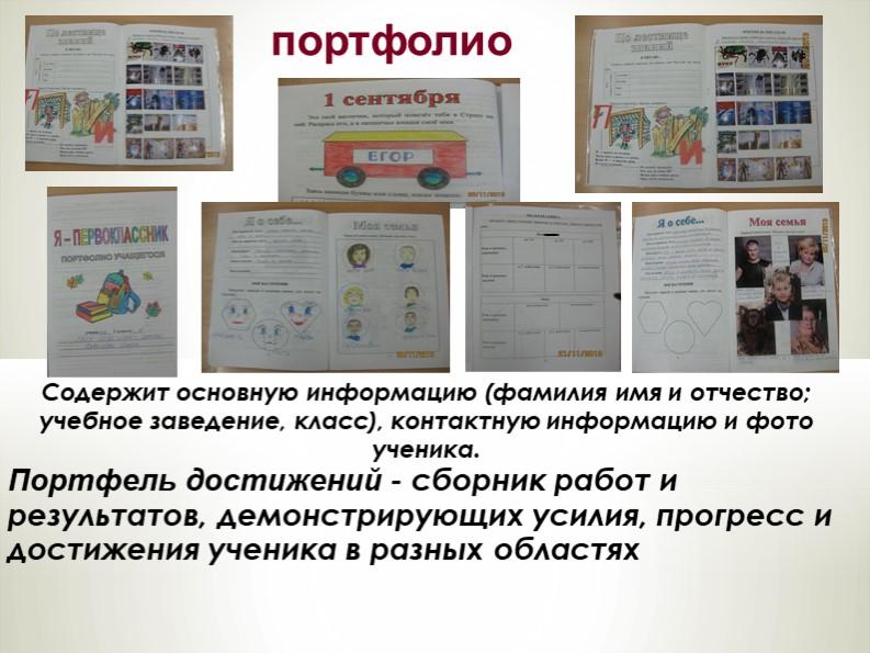 Содержит основную информацию (фамилия имя и отчество; учебное заведение, клас...