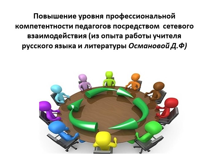 Повышение уровня профессиональной компетентности педагогов посредством  сетев...
