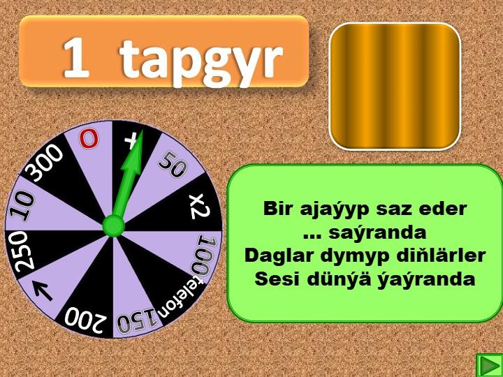 1  tapgyr+50х2100telefon15020010250300OBir ajaýyp saz eder… saýrandaDaglar...