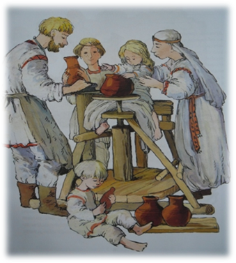 знакомство детей с историей возникновения корзинок