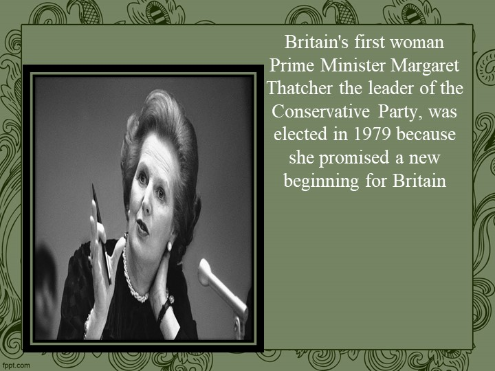 Britain's first woman Prime Minister Margaret Thatcher the leader of the Cons...