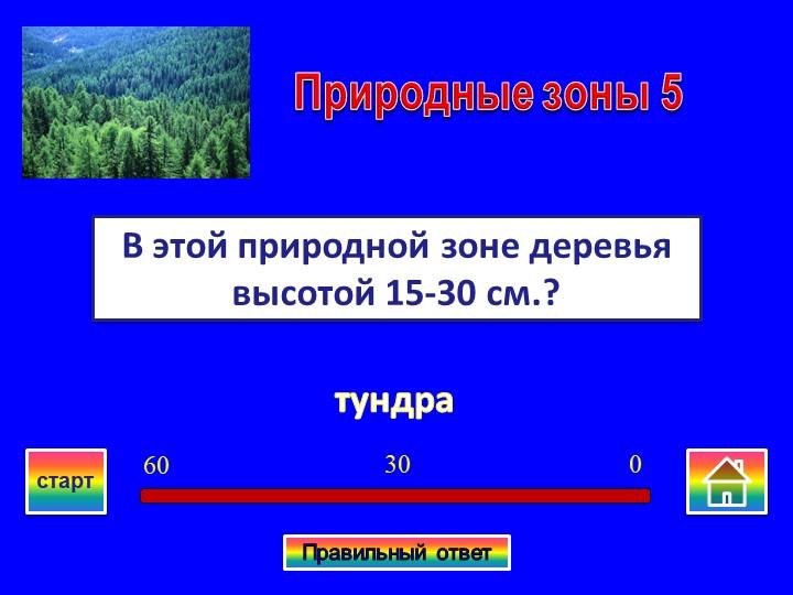 тундраВ этой природной зоне деревья высотой 15-30 см.?Природные зоны 503060ст...