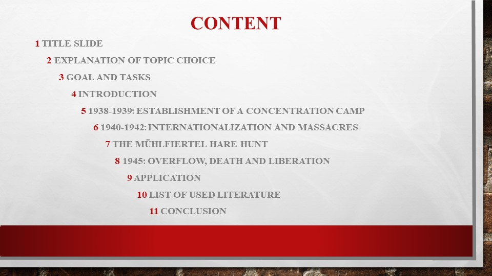 CONTENT  1 Title slide