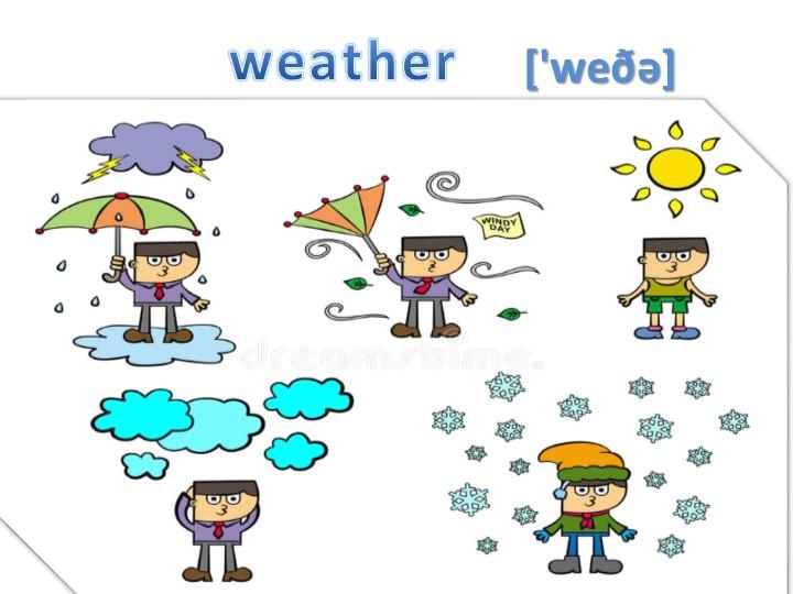 weather ['weðǝ]