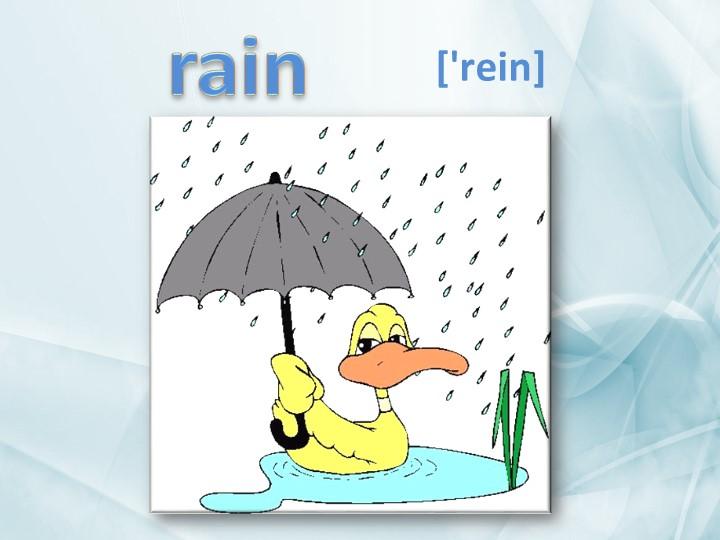rain['rein]