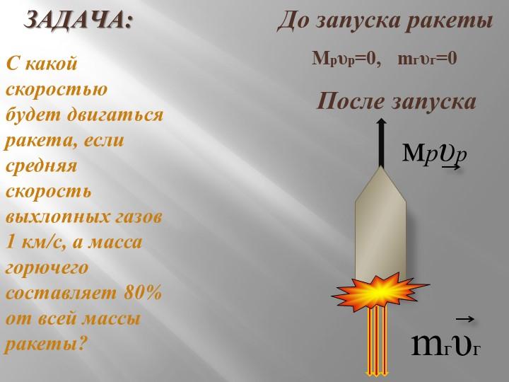 ЗАДАЧА:                       До запуска ракеты...