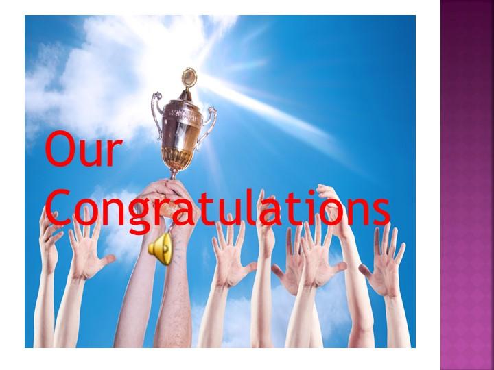 Our Congratulations