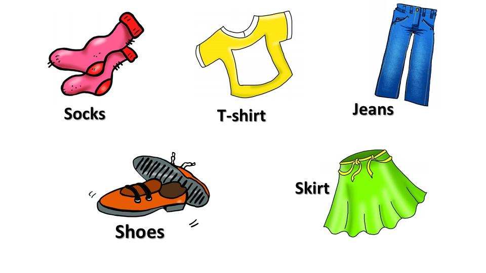 SocksT-shirtJeansShoesSkirt