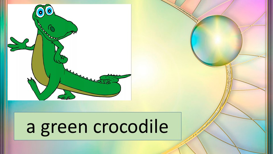 a green crocodile