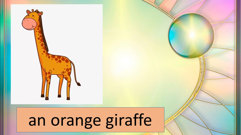 an orange giraffe