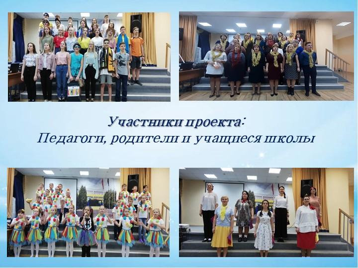 Участники проекта:Педагоги, родители и учащиеся школы