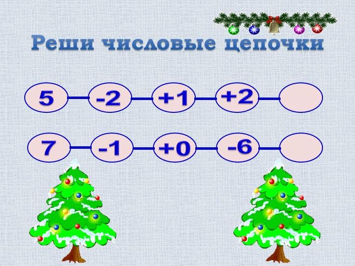 Реши числовые цепочки