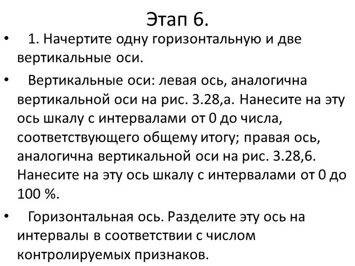 Этап 6. 1. Начертите одну горизонтальную и две вертикальные оси. Вертика