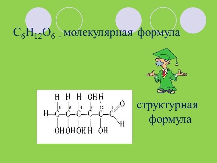 C6H12O6  - молекулярная формула...