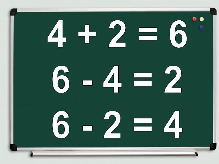 4 + 2 = 66 - 4 = 26 - 2 = 4