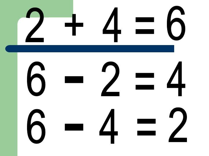 2+4=62-6=46-4=2