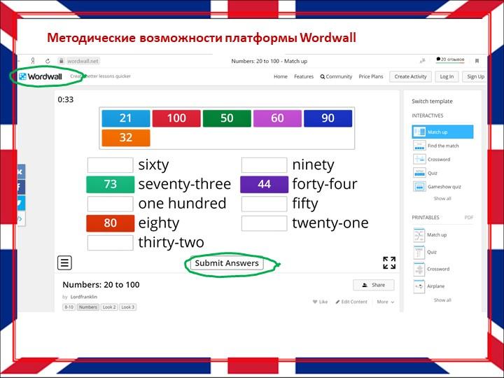Методические возможности платформы Wordwall