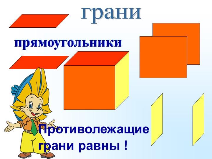 прямоугольникиграниПротиволежащиеграни равны !