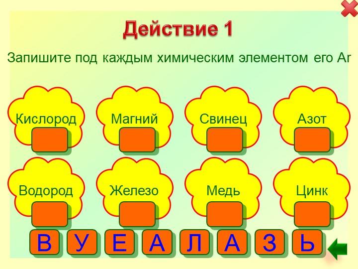 Действие 1Запишите под каждым химическим элементом его ArКислородАзотМагнийСв...