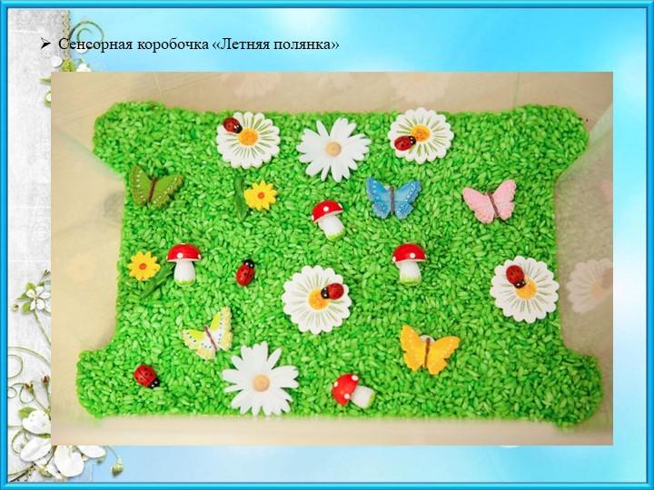 Сенсорная коробочка «Летняя полянка»