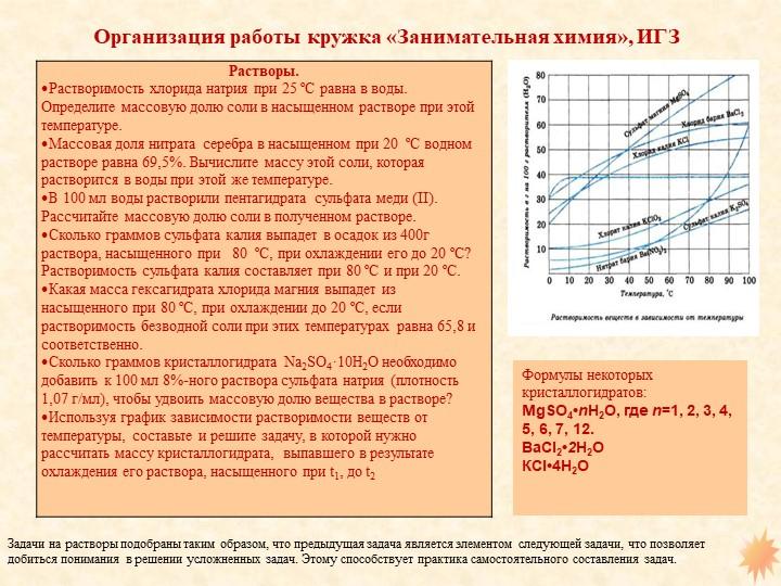 Формулы некоторых кристаллогидратов: MgSO4•nH2O, гдеn=1, 2, 3, 4, 5, 6, 7, 1...