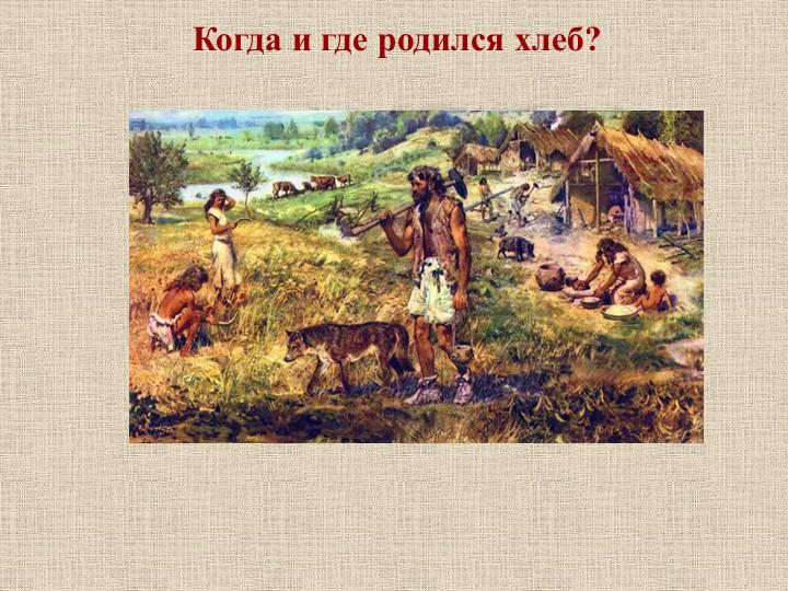 Когда и где родился хлеб?