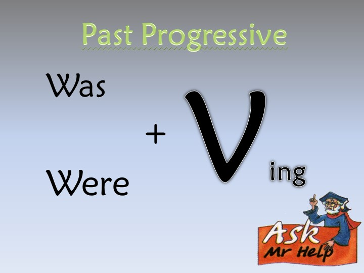 Past ProgressiveWas          +WereVing