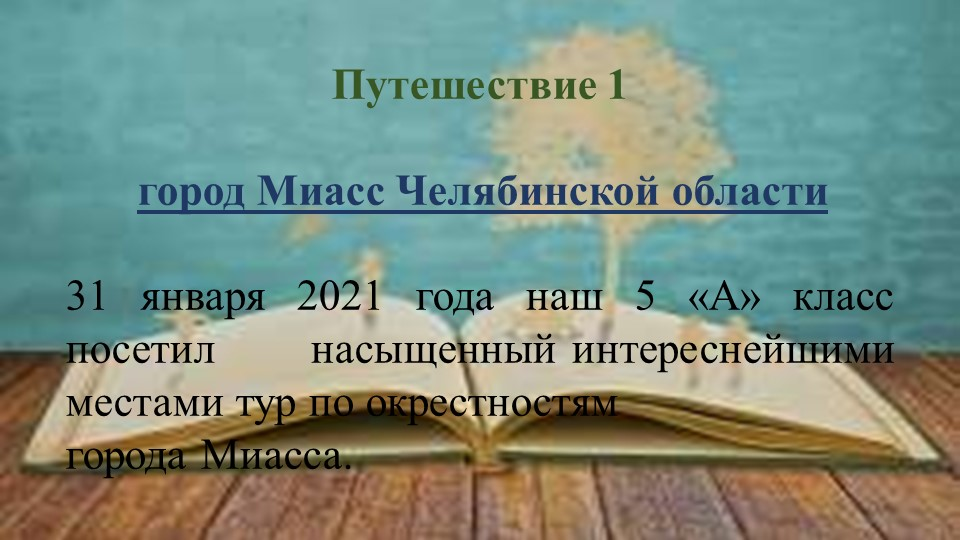 Путешествие 1город Миасс Челябинской области31 января 2021 года наш 5 «...