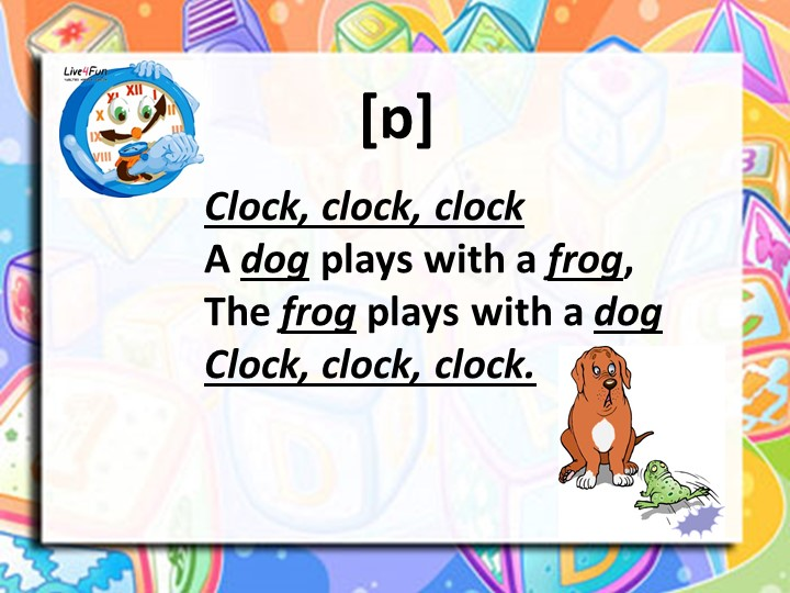 [ɒ]Clock, clock, clock