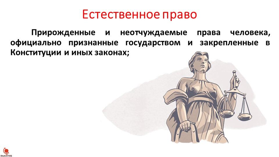 Естественное правоПрирожденные и неотчуждаемые права человека, официально пр...