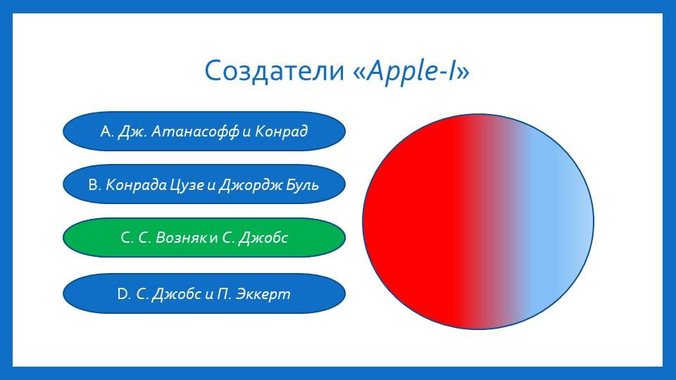 Создатели «Apple-I» А. Дж. Атанасофф и Конрад B. Конрада Цузе и Джордж Буль C...