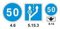 Скорость на синем круге