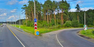 Съезд с магистрали