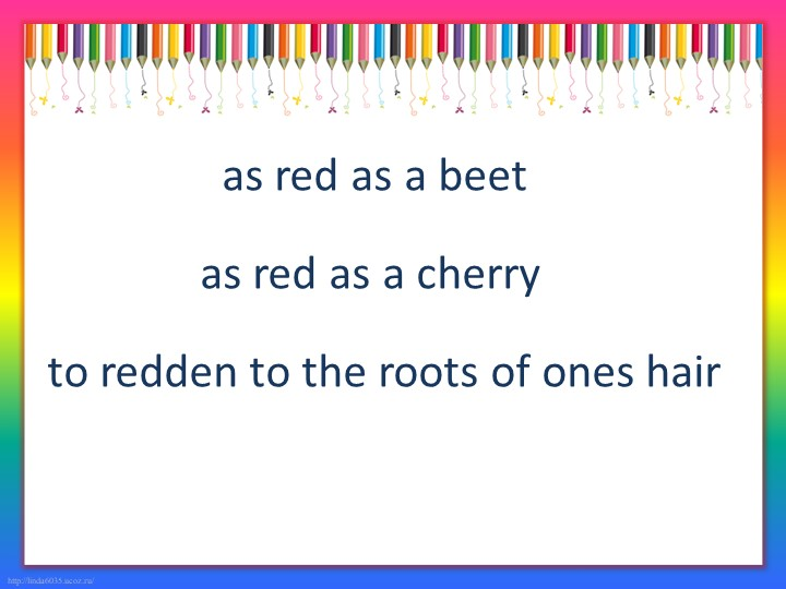 as red as a beet