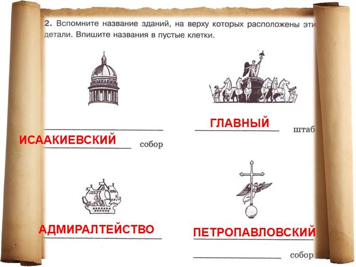 ИСААКИЕВСКИЙГЛАВНЫЙАДМИРАЛТЕЙСТВОПЕТРОПАВЛОВСКИЙ