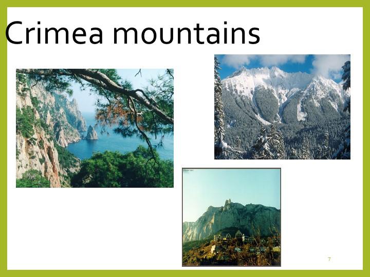 7Crimea mountains