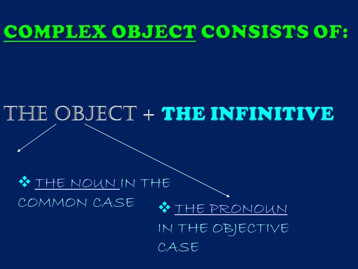 THE NOUN IN THE COMMON CASETHE PRONOUN IN THE OBJECTIVE CASE