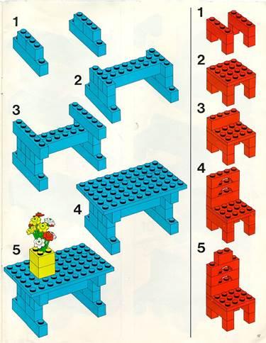 Картинки по запросу схема стола и стула из лего